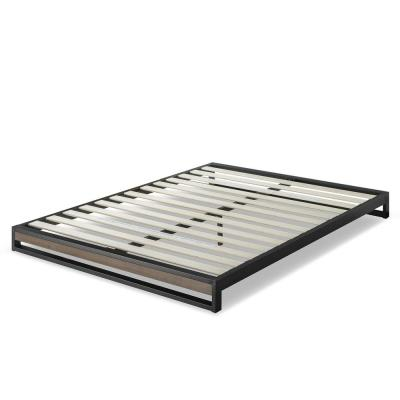 GOOD DESIGN Winner Suzanne Grey Wash Queen 6 in. Metal and Wood Platforma Bed Frame