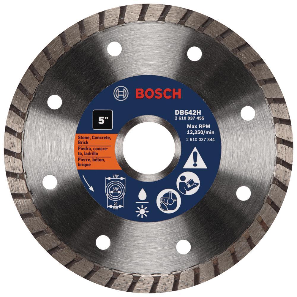 5 in. General Purpose Diamond Circular Saw Blade for Cutting Concrete, Block, Brick, and Stone