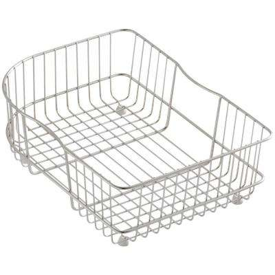 Efficiency 15-3/4 in. x 11-1/2 in. Rinse Basket for Right-Hand Bowl Sinks in Stainless Steel