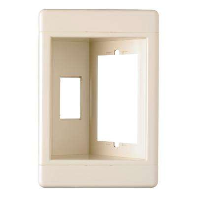 Plastic Light Almond 1-Gang Recessed TV Box