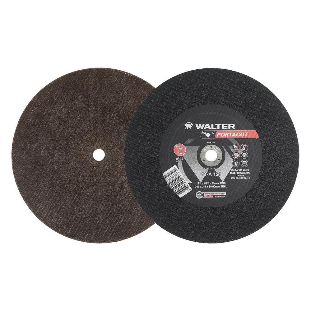 Portacut 12 in. x 1/8 in. x 20 mm STIHL Arbor T1 A24 Cutting Wheels (10-Pack)
