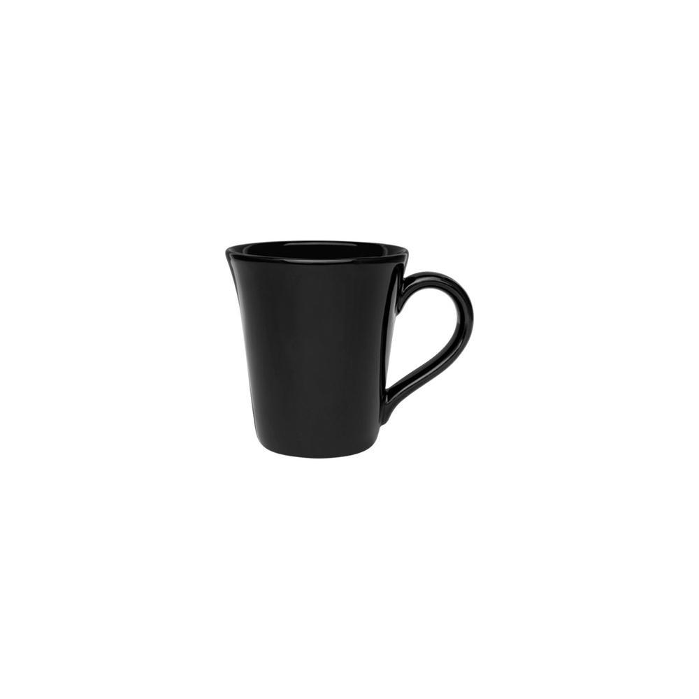 Coup 11.16 oz. Black Earthenware Mugs (Set of 12)