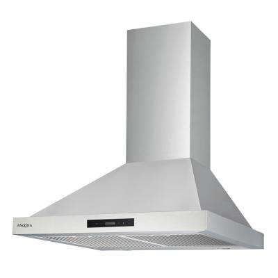 WPR430 30 in. 400 CFM Convertible Wall Mount Pyramid Range Hood with LED in Stainless Steel