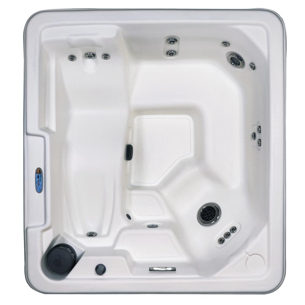USA Spas Naples 5-Person 43-Jets Plug and Play Standard Hot Tub with Lounger Heater LED Light Waterfall and Hard Cover