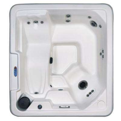 Naples 5-Person 43-Jets Plug and Play Standard Hot Tub with Lounger Heater LED Light Waterfall and Hard Cover