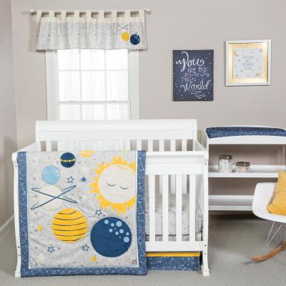 Galaxy 3-Piece Crib Bedding Set