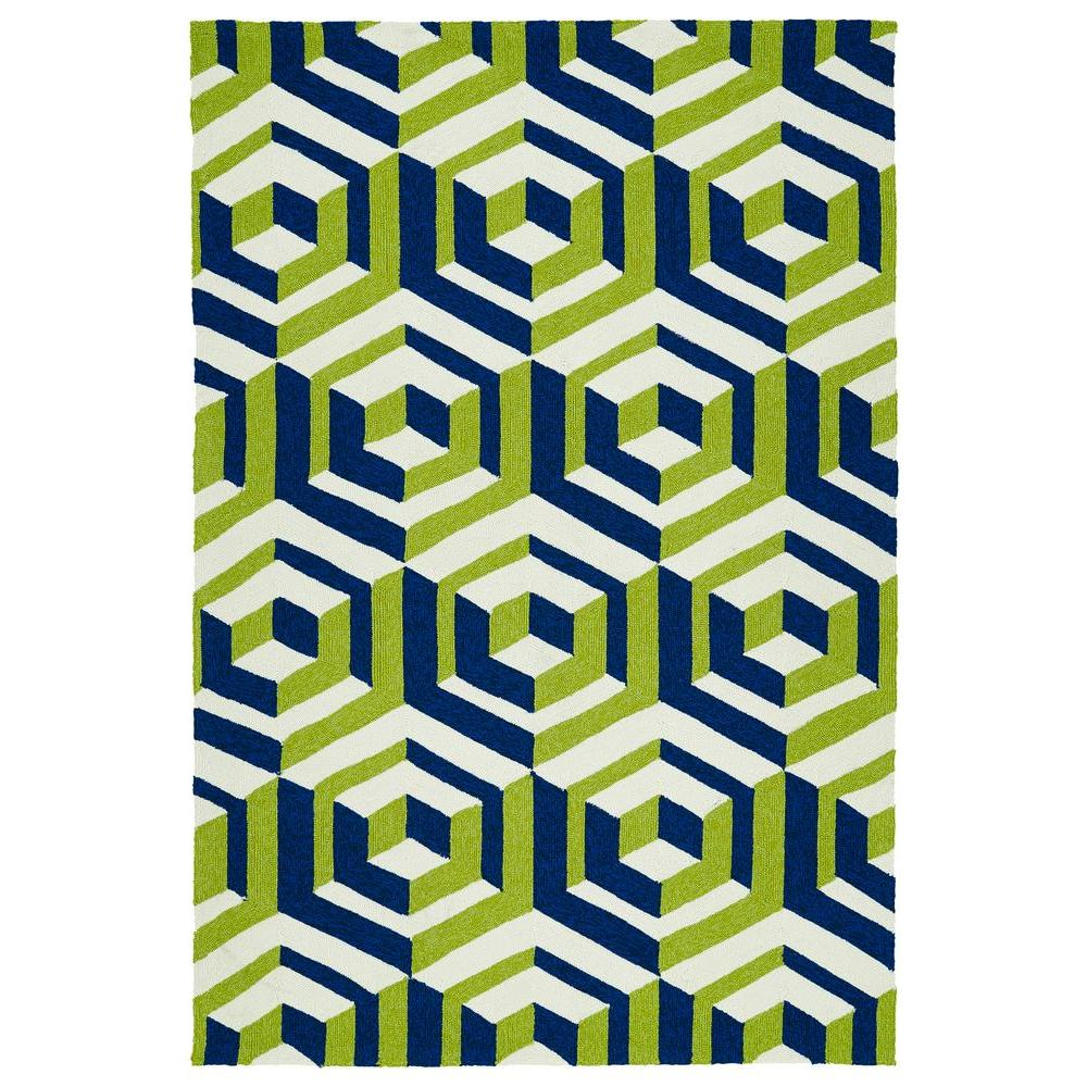 Escape Navy 9 ft. x 12 ft. Indoor/Outdoor Area Rug
