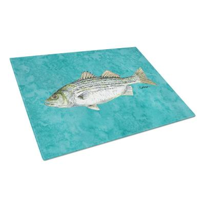 Fish Striped Bass Tempered Glass Large Cutting Board