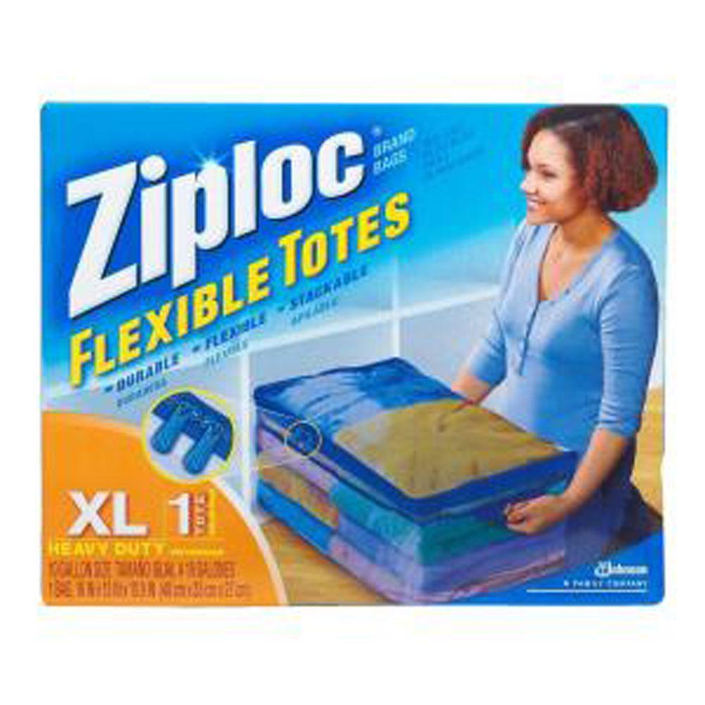 10-Gal. Flexible Heavy Duty Plastic Storage Tote (6-Pack)