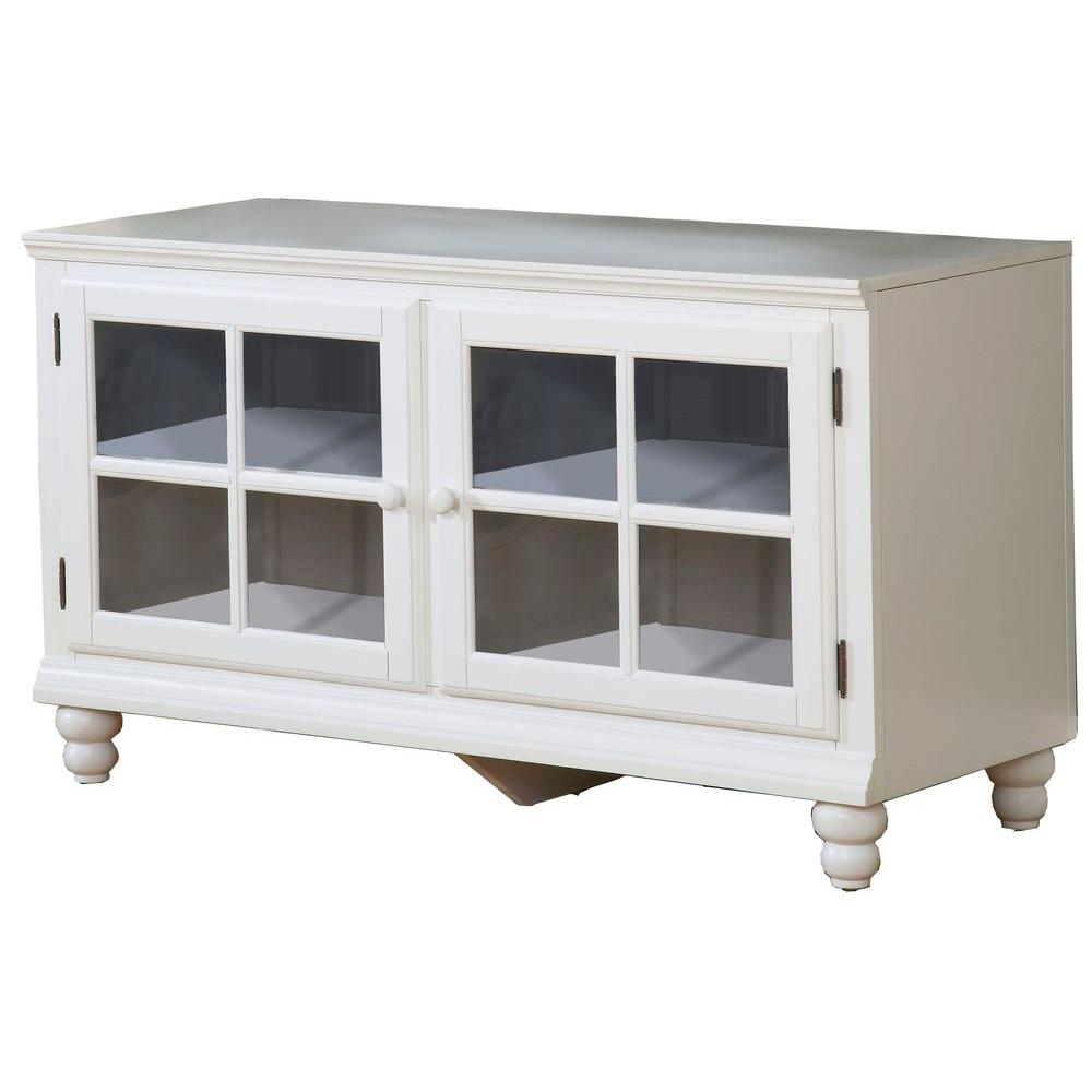 Hillsdale Furniture Grand Bay 48 in. White Entertainment Center-DISCONTINUED
