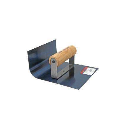 6 in. x 6 in. Inside Blue Steel Cove Step Tool with 1 in. Radius - Wood Handle