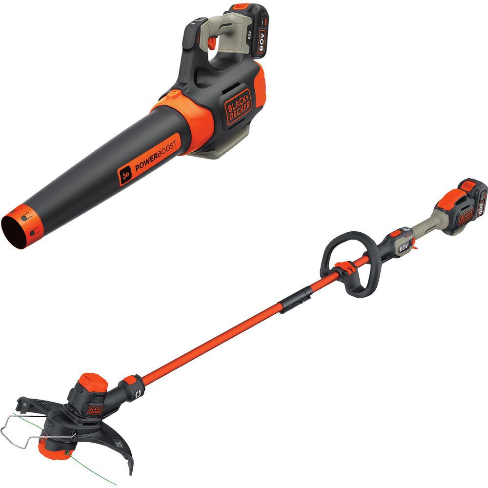 100 MPH 400 CFM 60-Volt MAX Lithium-Ion Cordless Handheld Leaf Blower with Bonus 2-in-1 String Grass Trimmer/Lawn Edger