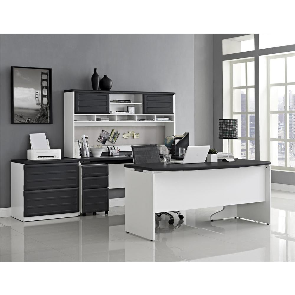 Altra Furniture Altra Pursuit White and Gray Desk with ...
