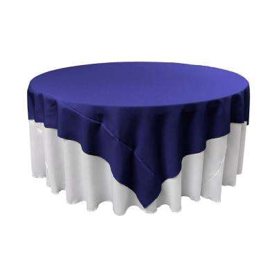 90 in. x 90 in. Royal Blue Polyester Poplin Square Tablecloth