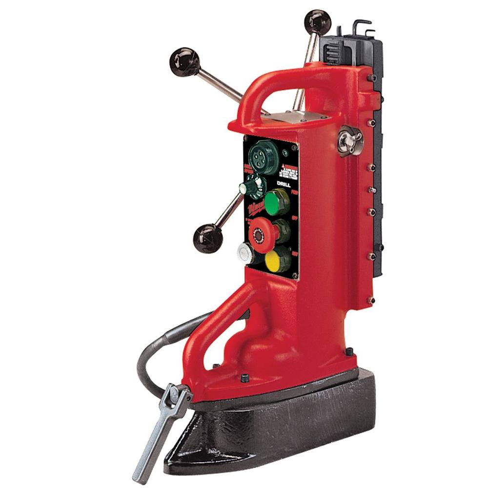 Milwaukee Electro-Magnetic Adjustable Position Drill Press Base with 11 in. Drill Travel