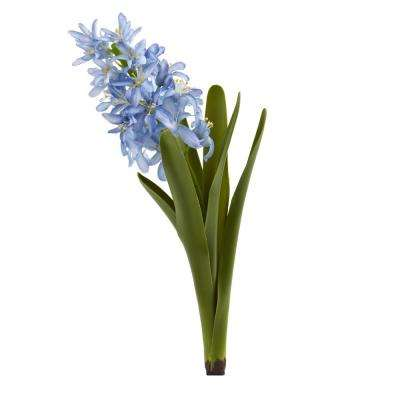 Indoor 13 in. Hyacinth Artificial Flower (Set of 4)