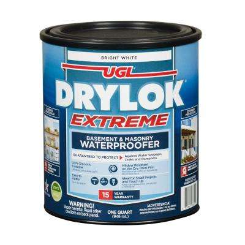 Extreme 1 qt. Bright White Flat Latex Interior/Exterior Masonry Waterproofer