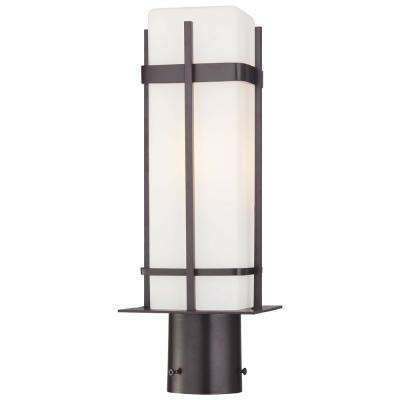 Sterling Heights 1-Light Outdoor Dorian Bronze Post Mount Light