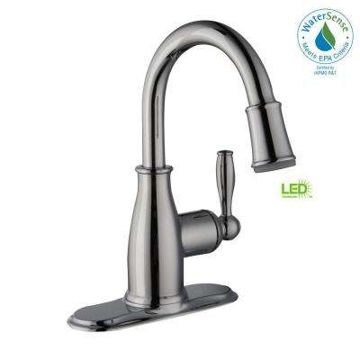 Mandouri 4 in. Centerset Single-Handle LED High-Arc Bathroom Faucet in Chrome