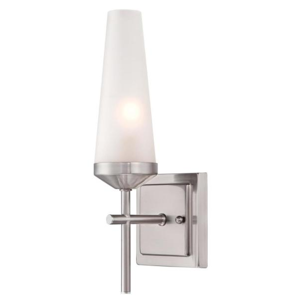 Prosecco 1-Light Brushed Nickel Wall Mount Sconce