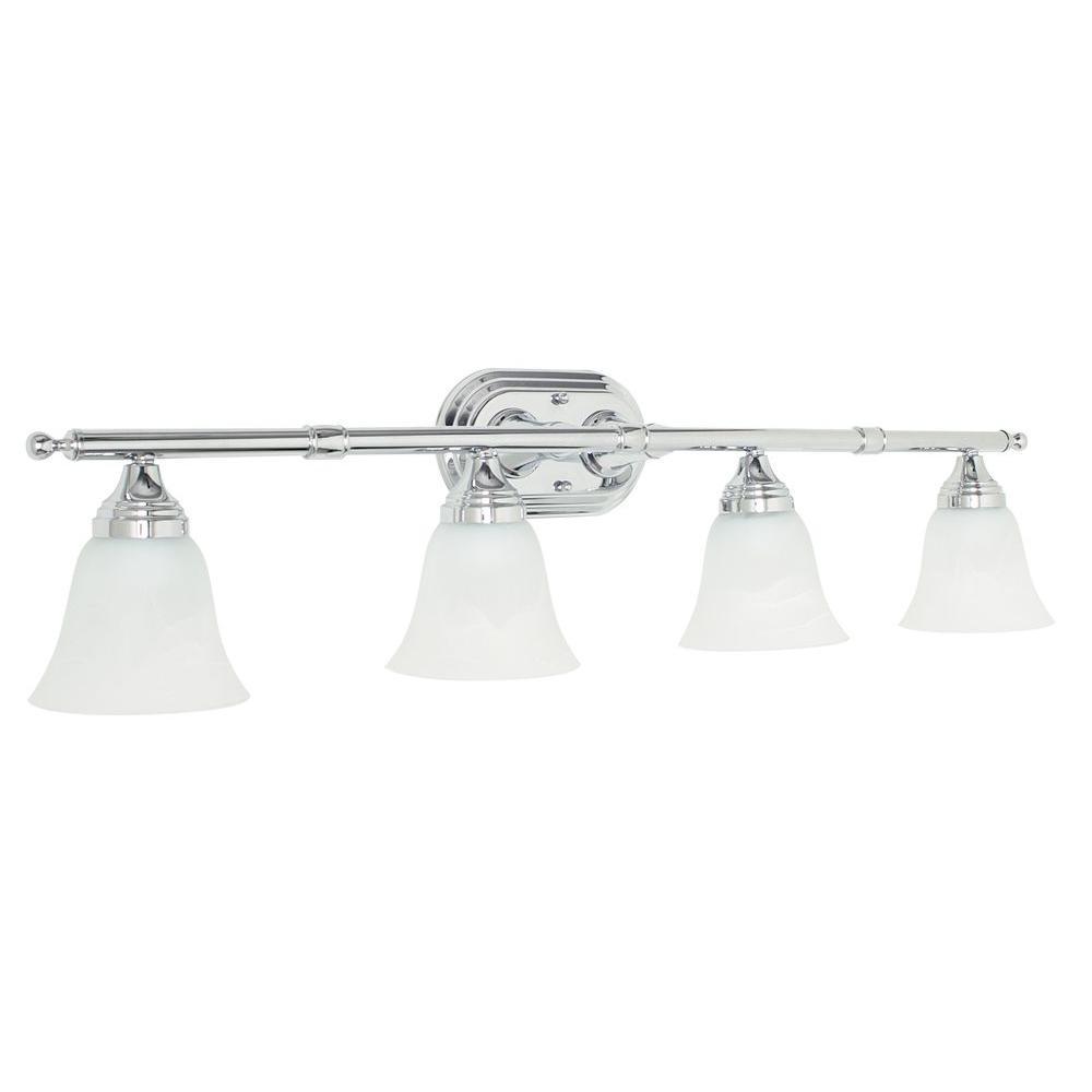 Mason 4-Light Polished Chrome Vanity Light