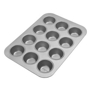 Click here to buy Chicago Metallic Commercial II 12-Cup Muffin Pan by Chicago Metallic.