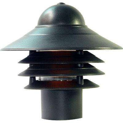 Mariner Matte Black Outdoor Post-Mount Light Fixture