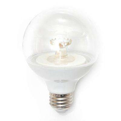 60W Equivalent Daylight G25 Dimmable Clear LED Light Bulb (3-Pack)