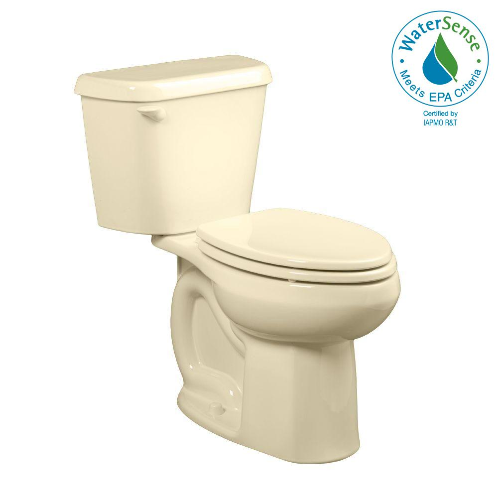 Colony 2-Piece 1.28 GPF Single Flush High-Efficiency Elongated Toilet in Bone