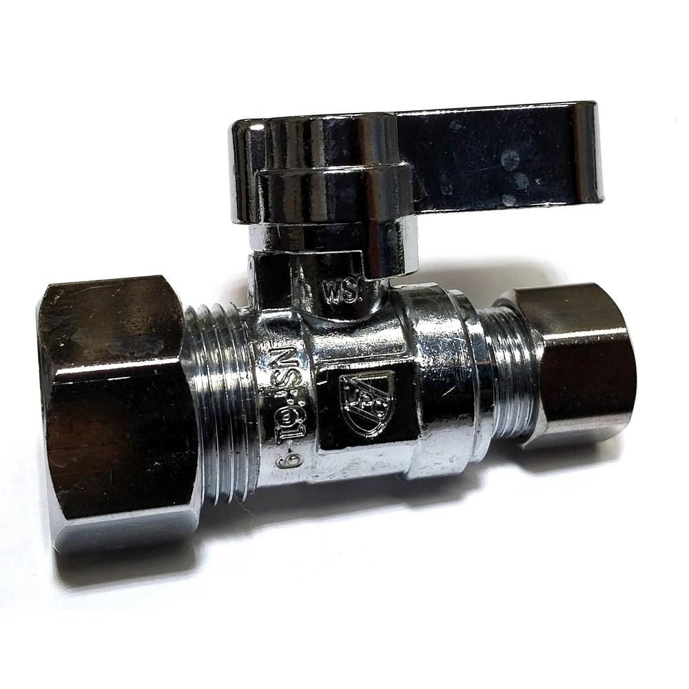 5/8 in. O.D. Compression Inlet x 3/8 in. O.D. Compression Outlet