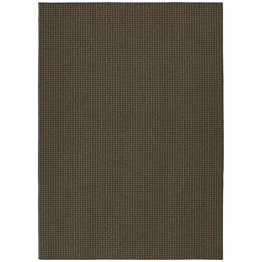 Garland Rug Berber Colorations Chocolate 7 ft. 6 in. x 9 ft. 6 in. Area Rug