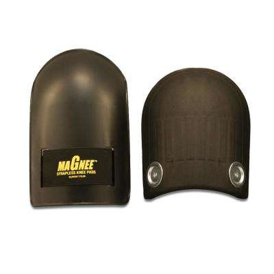 Black Strapless Magnetic Attaching Knee Pads with Industrial Caps