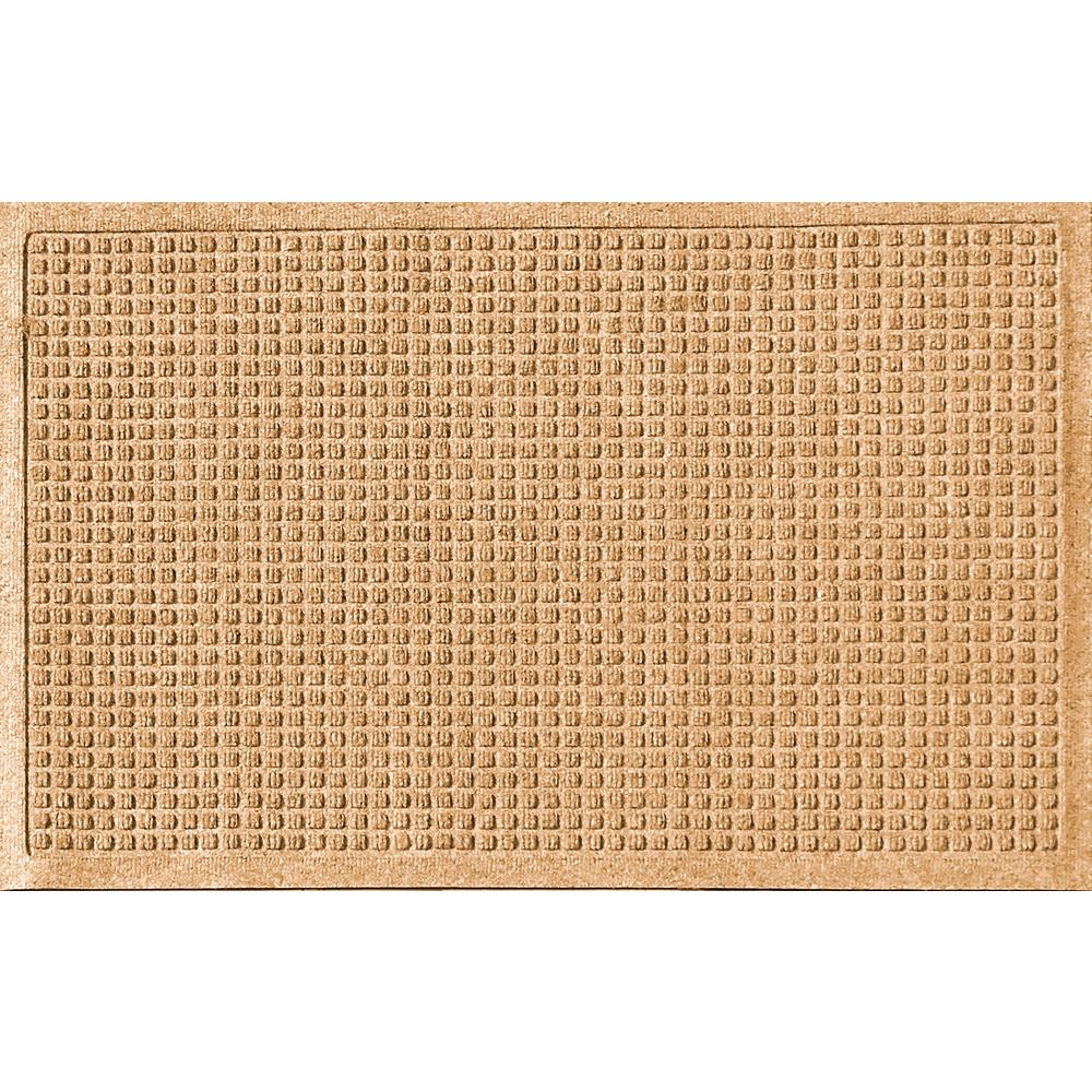 Gold 24 in. x 36 in. Squares Polypropylene Door Mat