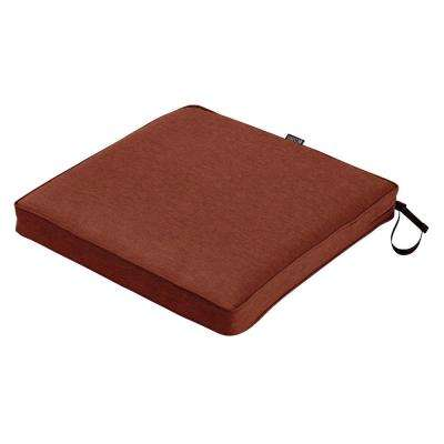 Montlake Fade Safe Heather Henna 18 in. Square Outdoor Seat Cushion