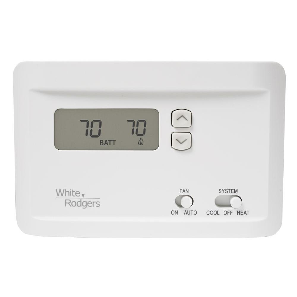 whites white rodgers non programmable thermostats np100 64_1000 white rodgers np100 electronic single stage non programmable white rodgers np100 thermostat wiring diagram at creativeand.co