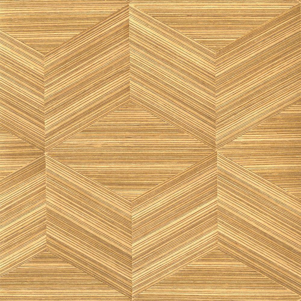wood veneer wallpaper  Kenneth James Lena Brown Wood Veneers Wallpaper Sample-2622-30261SAM ...