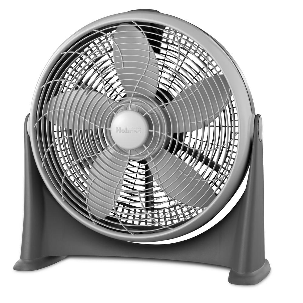 Holmes 20 In Three Speed Power Floor Fan Hff2015cgm The Home Depot