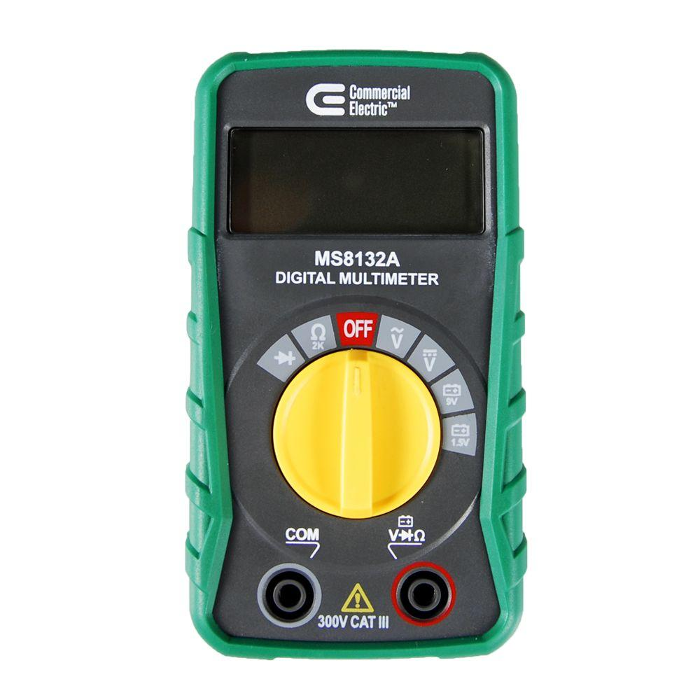 Commercial Electric Volt Meters : Commercial electric digital multi meter ms a the home