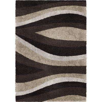 Flume Black Taupe Olefin 7 ft. x 10 ft. Area Rug