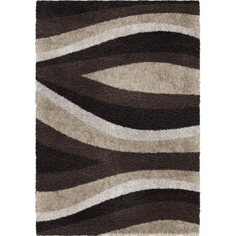 Orian Rugs Flume Black Taupe 7 Ft 10 In X 10 Ft 10 In