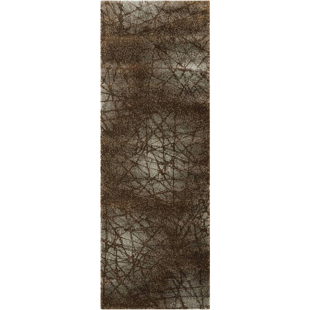 Nourison Overstock Parallels Aqua 2 ft. 3 in. x 8 ft. Runner