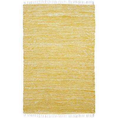 Yellow Chenille 8 ft. x 10 ft. Area Rug