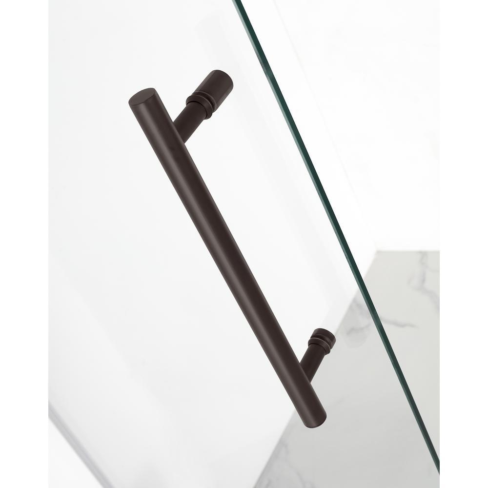 Aston Avalux 37 In X 36 In X 72 In Frameless Corner Hinged Shower Enclosure In Bronze Sen987 Nbr 3736 10 The Home Depot