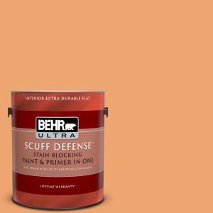 Behr Ultra 1 Gal Home Decorators Collection Hdc Sp16 04 Apricot Jam Extra Durable Flat Interior Paint Primer 172401 The Home Depot