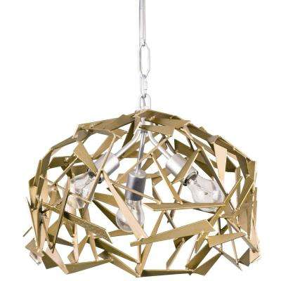 Bermuda 3-Light Silver with Champagne Mist Pendant