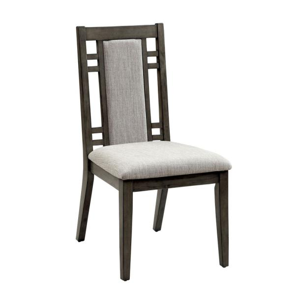 ERIS I Weathered Gray Transitional Style Side Chair CM3213SC-2PK