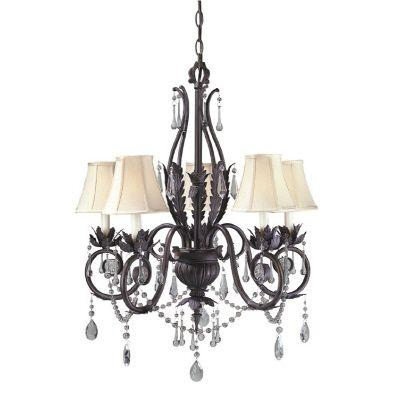 null Berkeley Square Collection 5-Light Weathered Bronze Chandelier