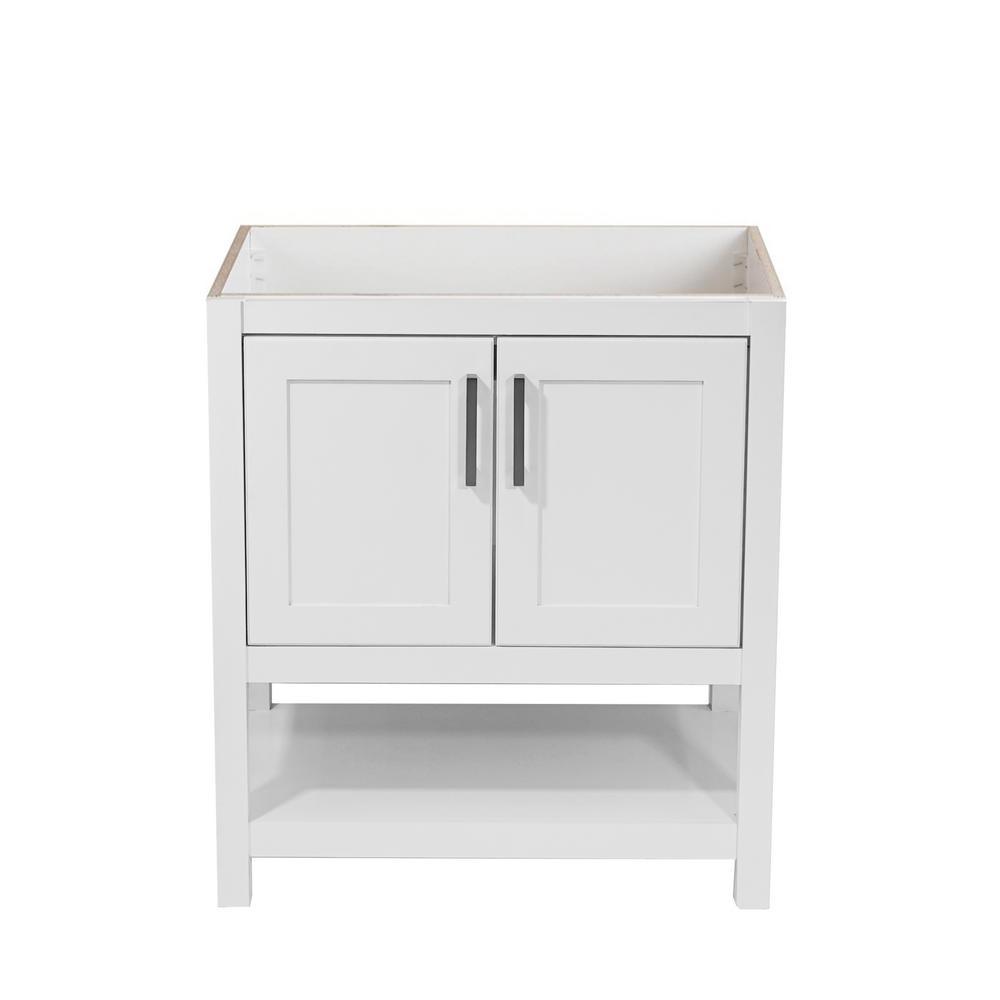 Tufino 31 in. W x 22 in. D Bath Vanity Cabinet Only in White