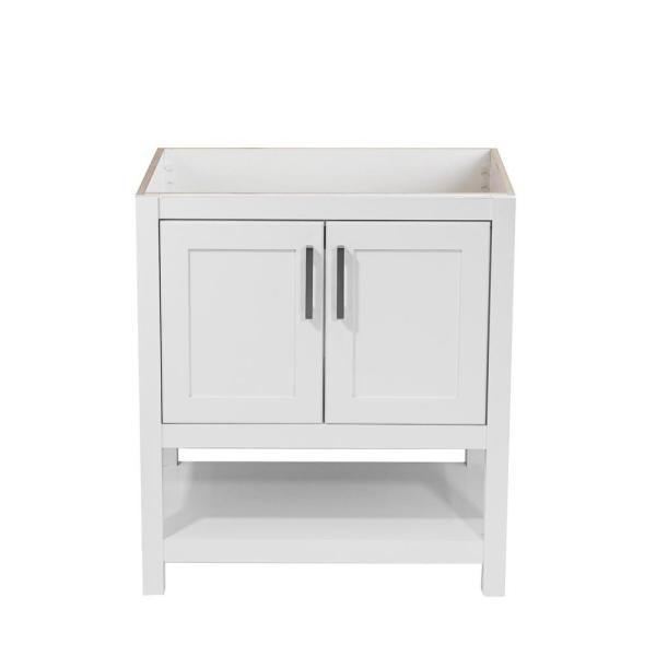 Tufino 31 in. W x 22 in. D Bath Vanity Cabinet Only in White