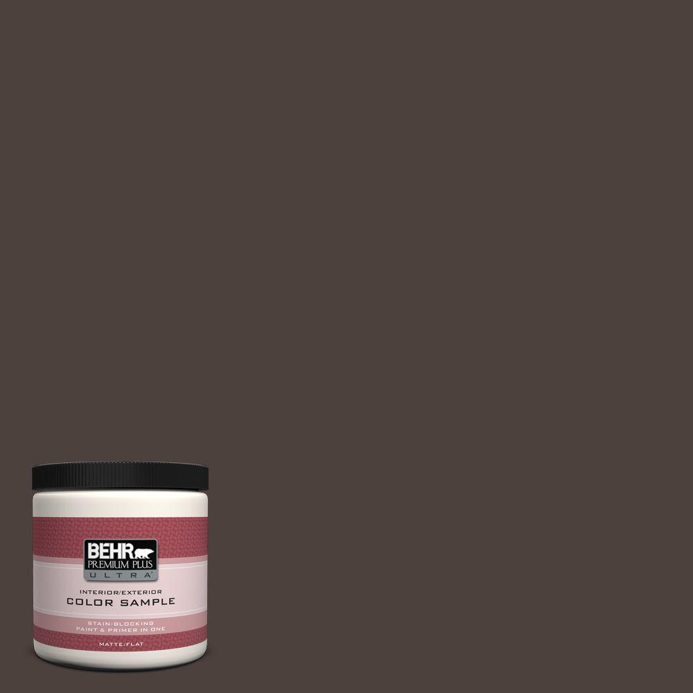 BEHR Premium Plus Ultra 8 oz. #790B-7 Bitter Chocolate Interior/Exterior Paint Sample